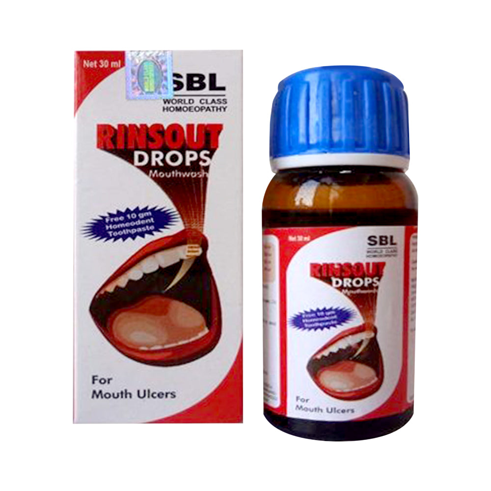 SBL Rinsout Drops Mouthwash for Mouth Ulcers 15% Off