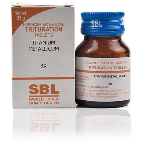 SBL Titanium Metallicum 3X Homeopathy Trituration Tablets for abdominal discomfort, nasal catarrh