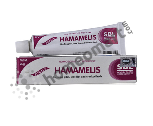 SBL Hamamelis Ointment for bleeding piles & haemorrhoids