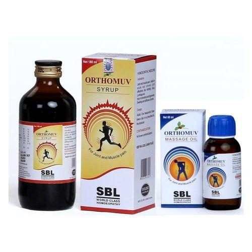 SBL Orthomuv Syrup & Massage Oil -Pack of 2
