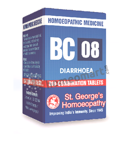 St. George's Biocombination 08 (BC08) tablets for diarrhoea