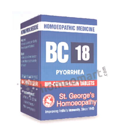 St. George's Biocombination 18 (BC18) tablets for Pyorrhea