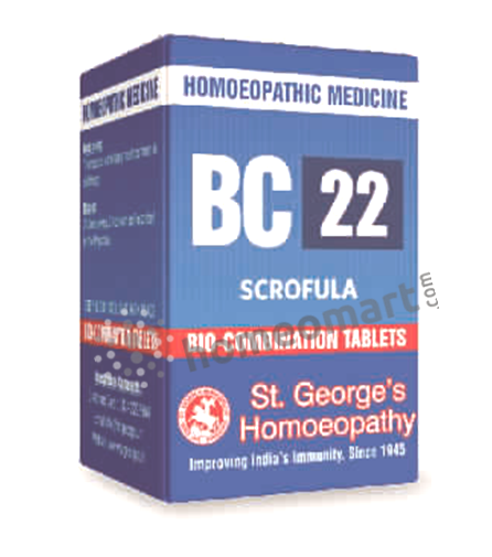 St. George's Biocombination 22 (BC22) tablets for Scrofula