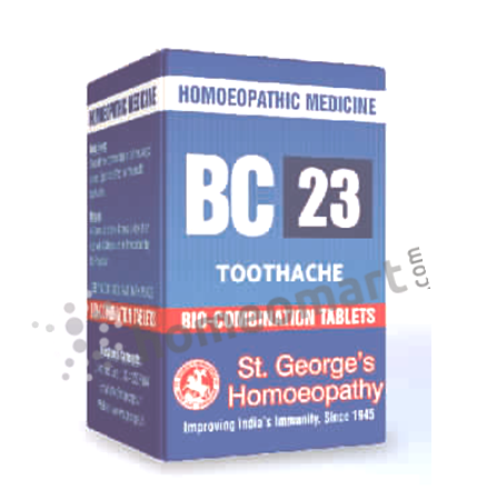 St. George's Biocombination 23 (BC23) tablets for toothache