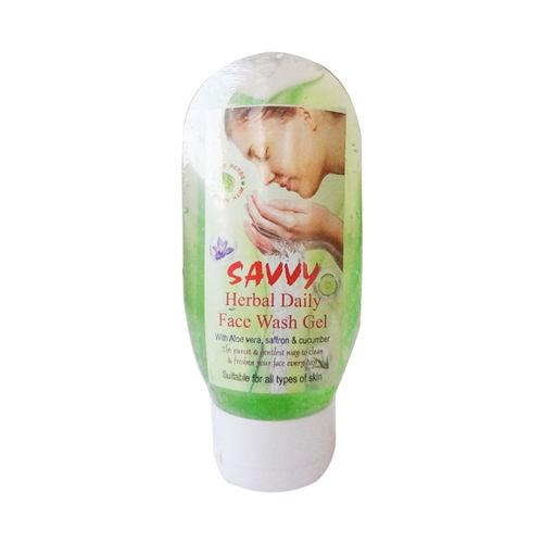 Savvy Herbal Daily Face Wash Gel with Aloe Vera, Saffron and Cucumber