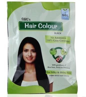 SBL Black, Dark brown Hair Color with Goodness of Aloevera, Amla and Hibiscus