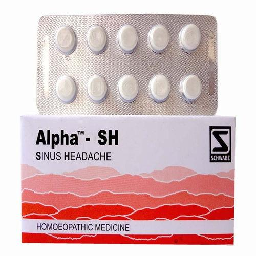 Schwabe Alpha SH Tablets for Sinus Headache, Congestion, Sinusitis