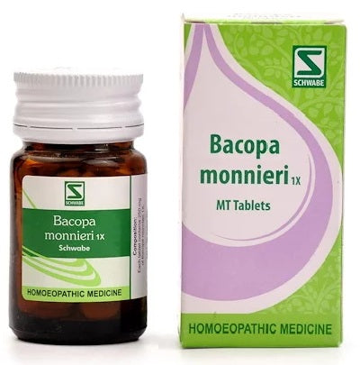 Schwabe Bacopa Monnieri 1X tablets, Brain Tonic for weak memory, forgetfulness
