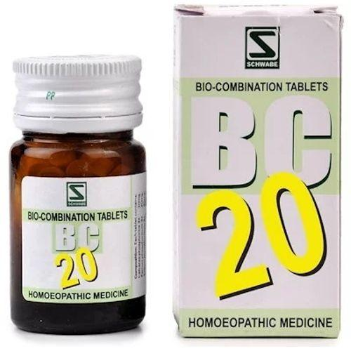 Schwabe Biocombination BC20 Tablets for Skin Diseases, Acne, Eczema, Herpes