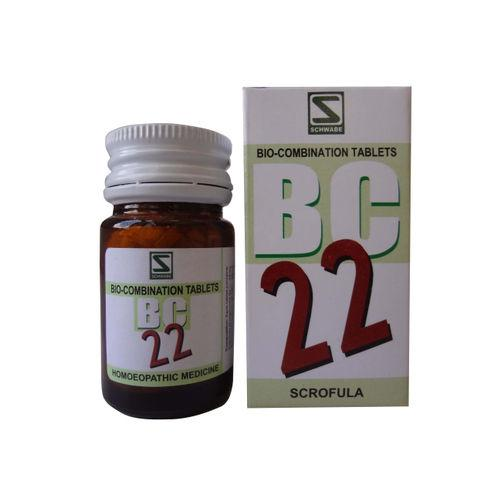 Schwabe Biocombination BC22 Tablet for Scrofula (Glandular Tumors)