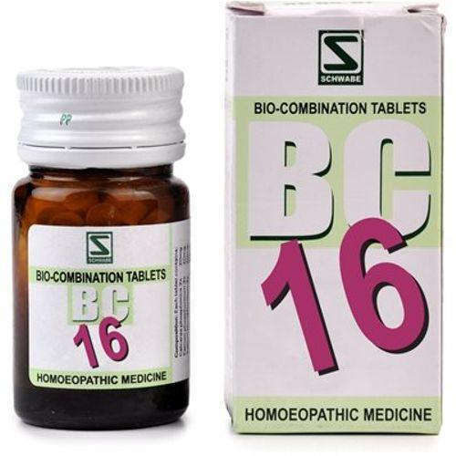 Schwabe Biocombination BC16  Tablets for Nervous Exhaustion, Fatigue