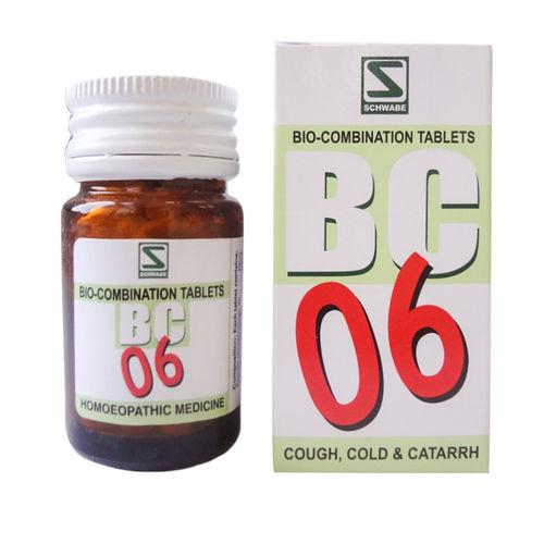 Schwabe Biocombination BC6 Tablets for Cough, Cold & Catarrh