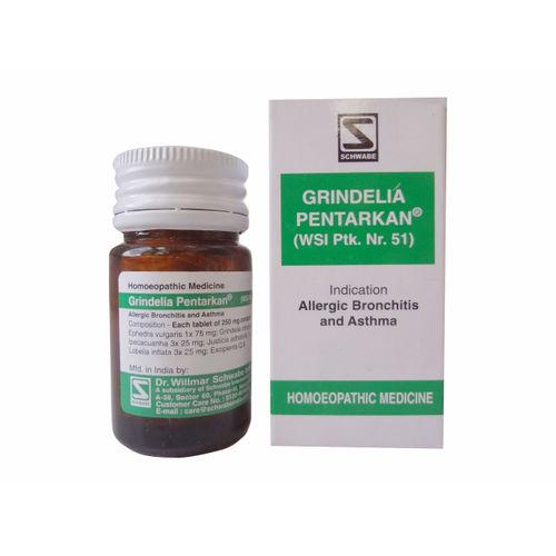 Schwabe Grindelia Pentarkan Tablets for Bronchial Asthma, Allergic Bronchitis