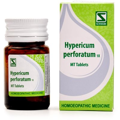Schwabe Hypericum Perforatum 1x Tablets for Nerve injuries, Hyperhidrosis, Nervousness