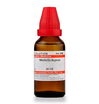 Mitchella Repens Homeopathy Dilution 6C, 30C, 200C, 1M, 10M