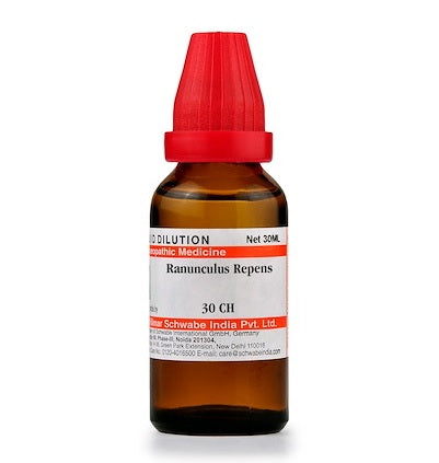 Ranunculus Repens Homeopathy Dilution 6C, 30C, 200C, 1M, 10M