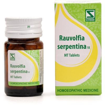 Schwabe India Rauvolfia Serpentina 1x Tablet for High Blood Pressure, emotional excitability