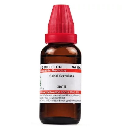 Sabal Serrulata Homeopathy Dilution 6C, 30C, 200C, 1M, 10M