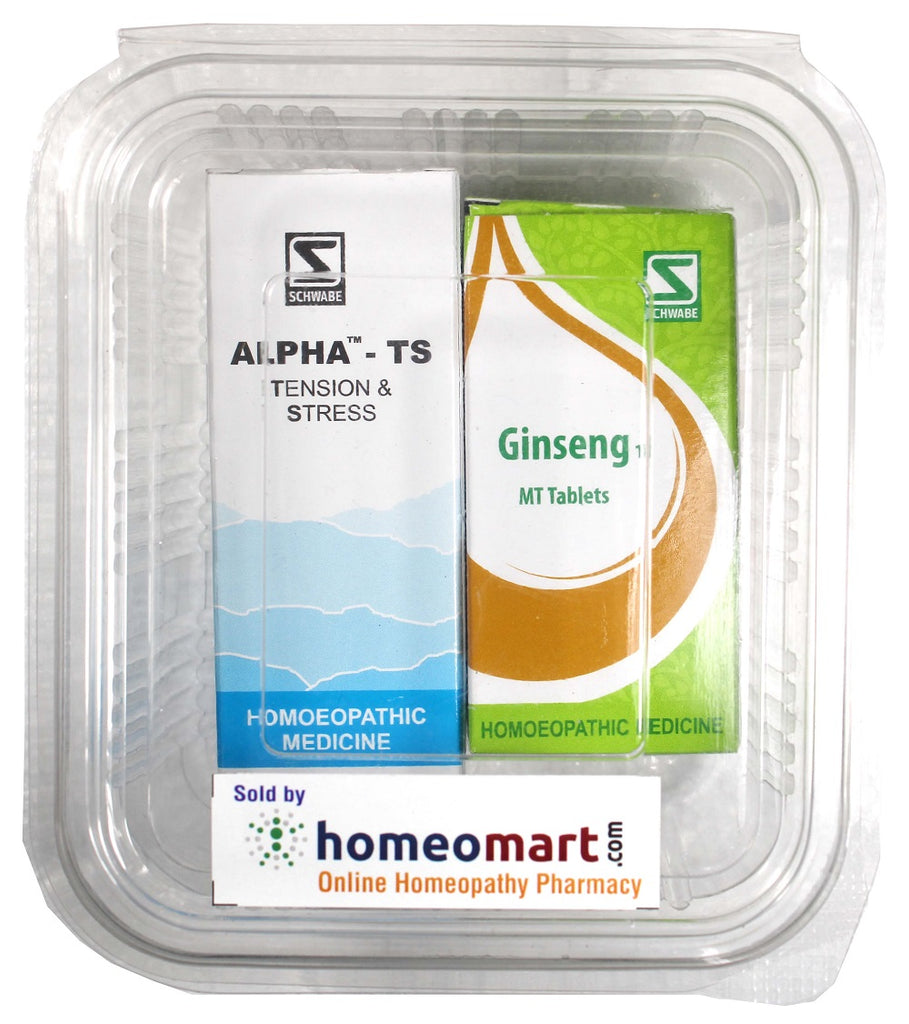 Homeopathy Stress relief Kit - Schwabe Alpha TS, Giinseng
