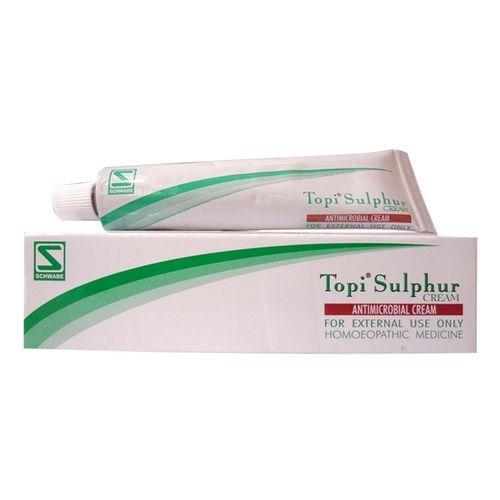 Schwabe Topi Sulphur Cream for Acne, Scabies, Fungal Skin Infections. Pack of 3