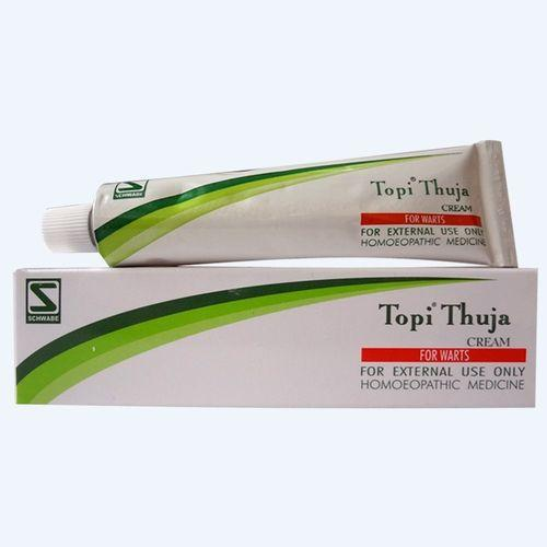 Schwabe Topi Thuja Cream for Warts, Genital Warts, abnormal Skin growths. Pack of 3