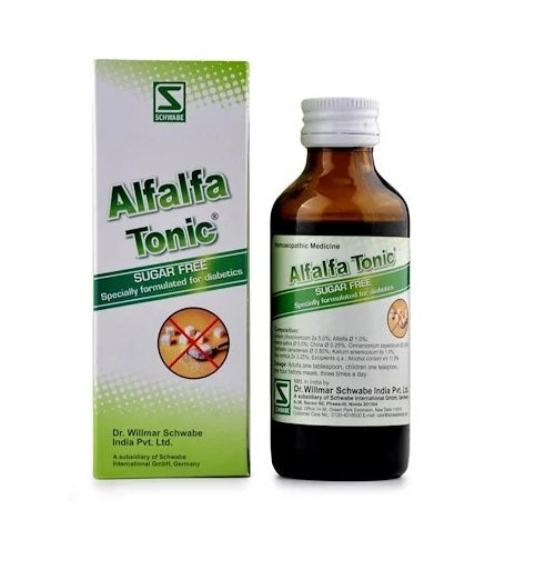 Schwabe Alfalfa Tonic Diabetic (Sugar free) for Weakness, Poor Appetite, Stress & Sleep Disorders