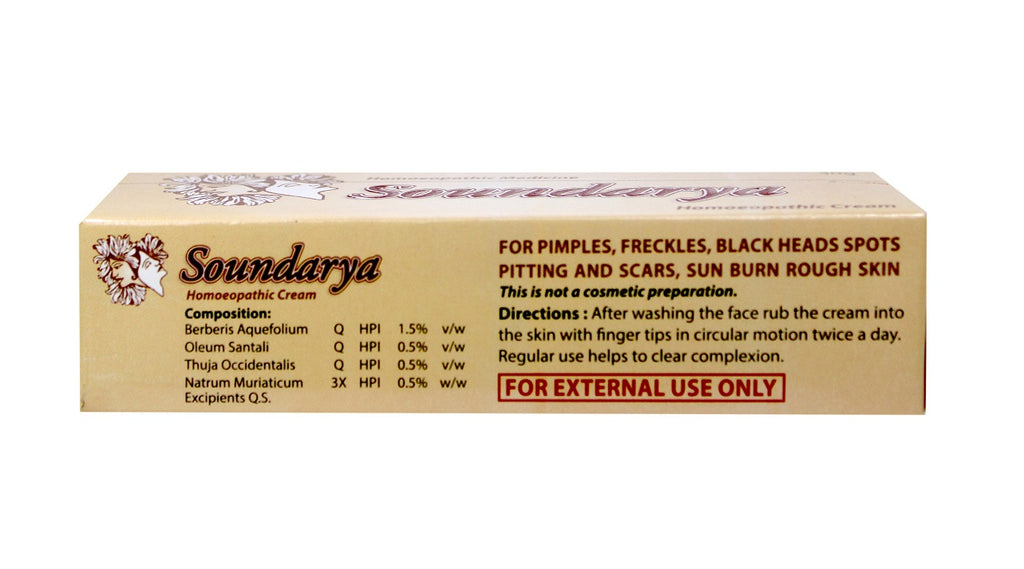 Soundarya homeopathic cream ingredients
