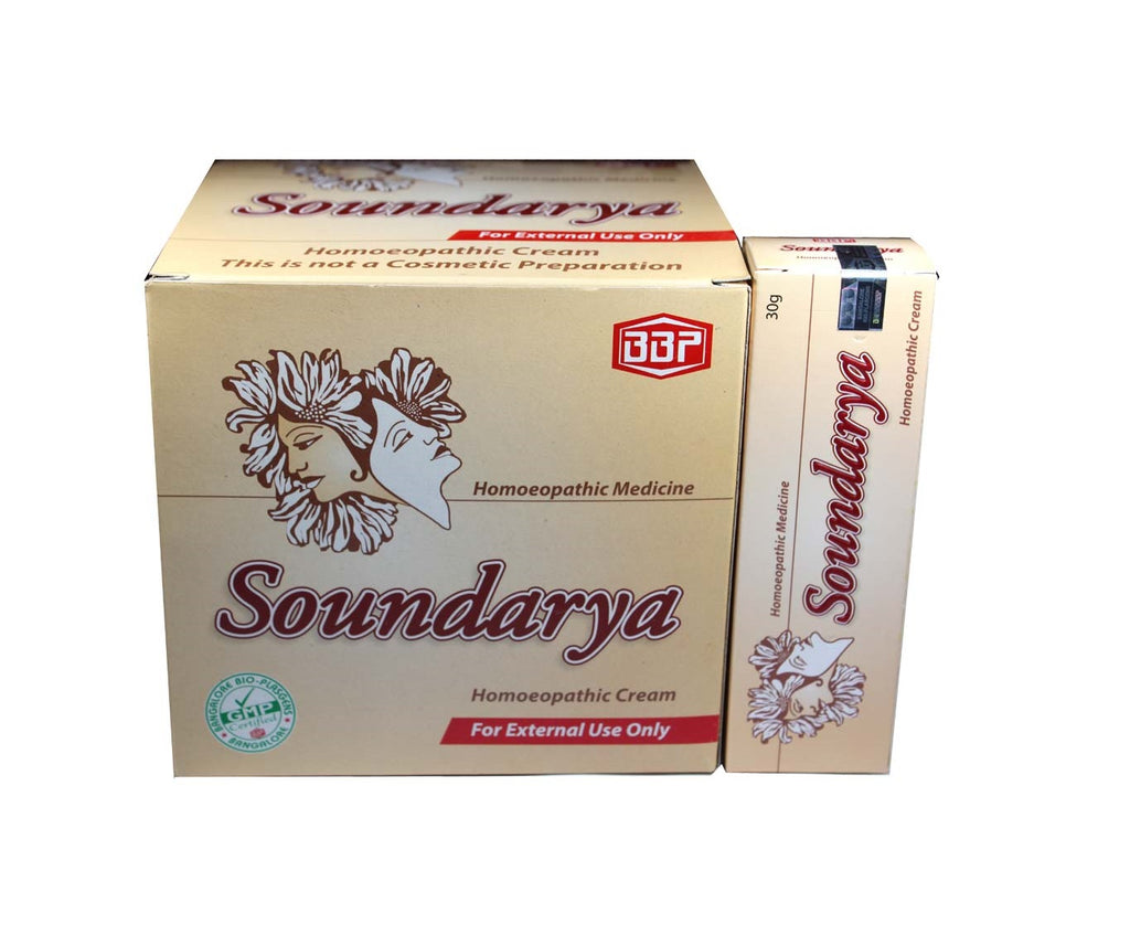 Soundarya homeopathy beauty cream with berberis for skin spots acne