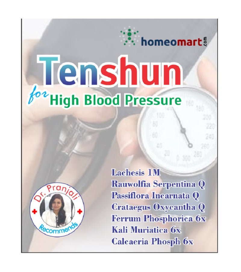 Tenshun homeopathy for high blood pressure, hypertension