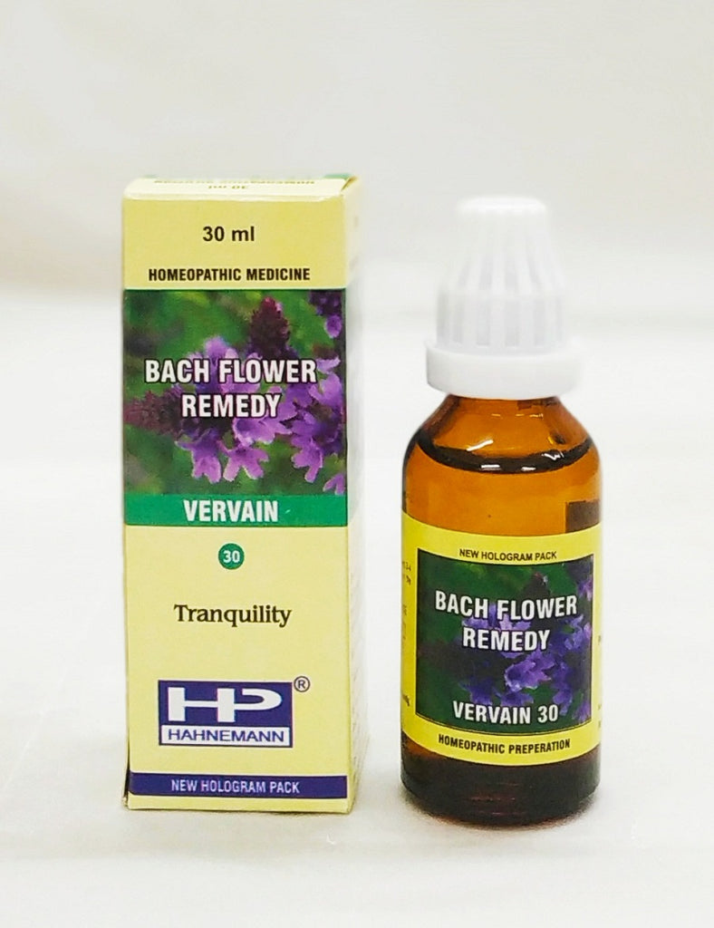 Bach flower Vervain for over-enthusiasm, hyper-active, fanatical