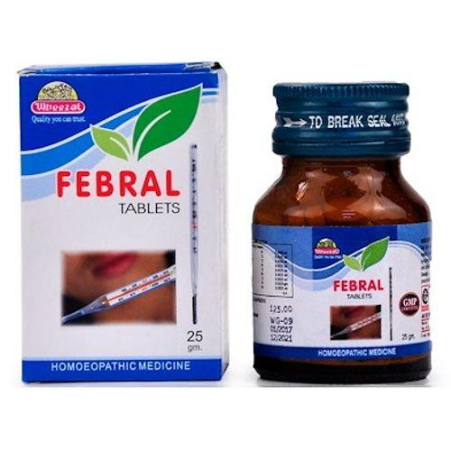 Wheezal Febral Tablets Homeopathic Medicine for all types of Fever
