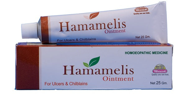 Wheezal Hamamelis Ointment for Ulcers and Chilblain