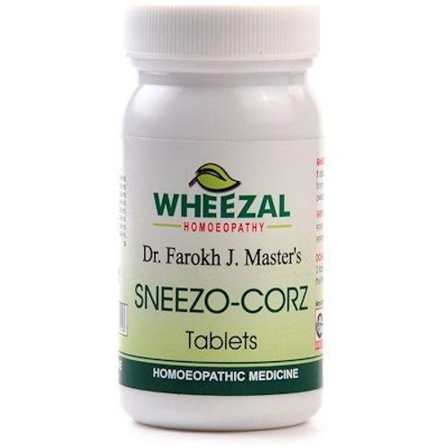 Wheezal Sneezo Corz Tablets for sneezing, nasal catarrh