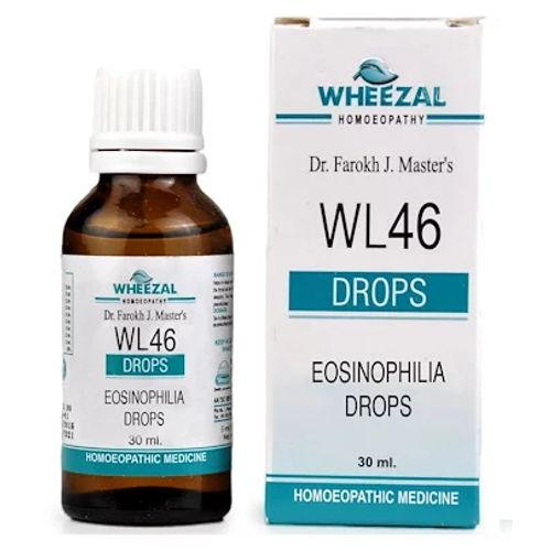Wheezal WL46 Eosinophilia Drops for Allergies of Nose, Throat, Lungs & Skin