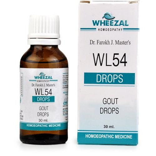 Wheezal WL54 Gout Drops Control Swelling, Pain & Deformity of Joints