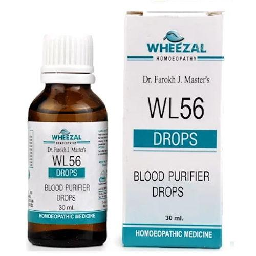 Wheezal WL56 Blood Purifier Drops - Helps Cure Skin Diseases