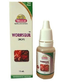 Wheezal Wormsquil Drops. Deworming medicine