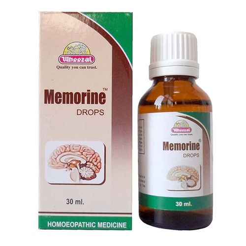 Wheezal Memorine Drops for Improving Memory with anacardium, baryta carb