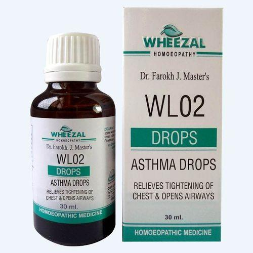 Wheezal WL 2 Asthma Drops Relieves Tightening of Chest and Helps Open Airways
