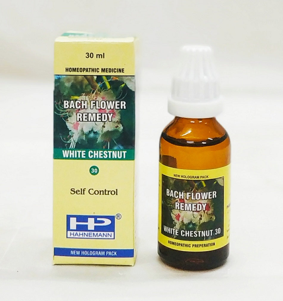 Bach flower White Chestnut for Repeated unwanted thoughts, concentration, insomnia