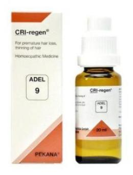 Adel 9 CRI-regen drops - Natural remedies for hair loss