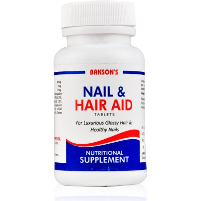 Baksons Nail and Hair Aid Tablets for Luxurious Glossy Hair and Healthy Nails