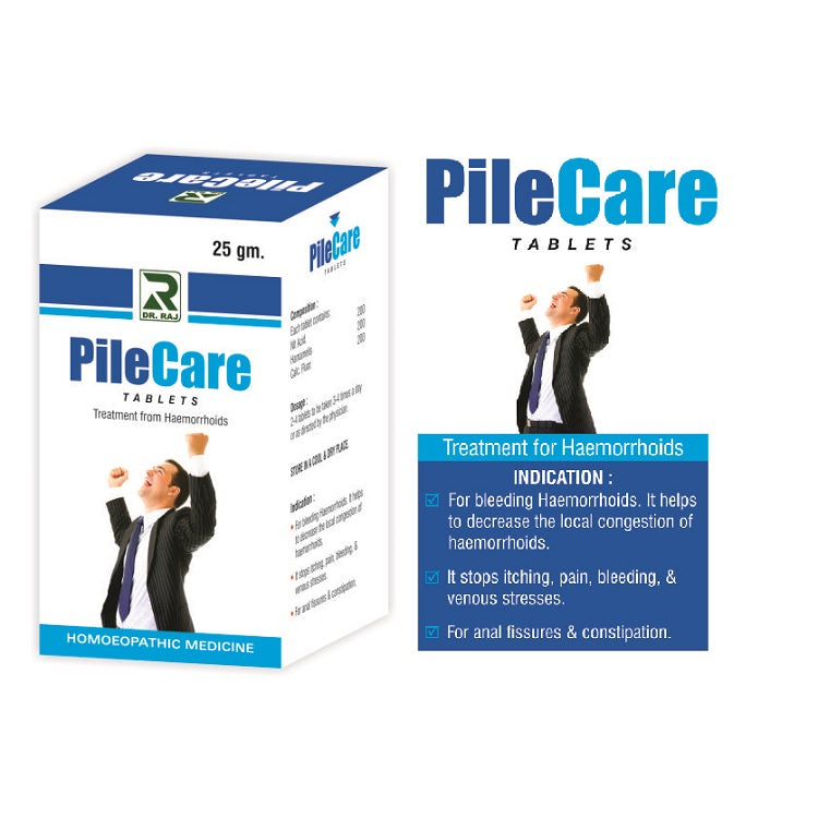 Dr Raj Pilecare Tablets for bleeding Hemorrhoids, Fissures