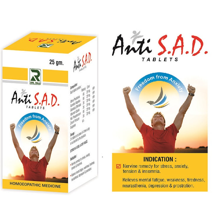 Dr.Raj Anti S.A.D Tablets for Stress, Anxiety, Tension