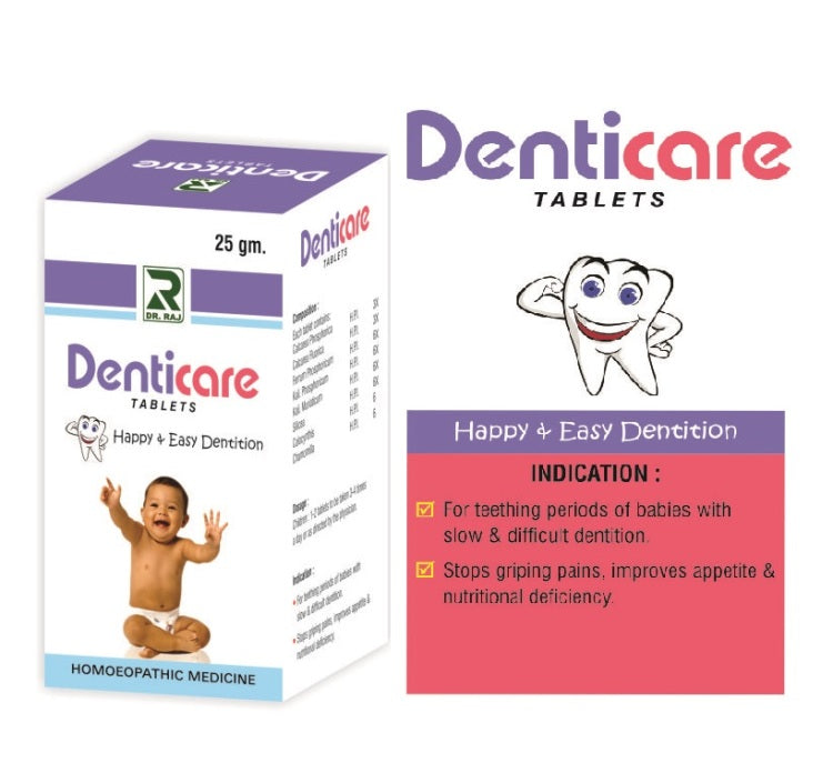 Dr Raj Denticare Tablets for dentition, griping pains