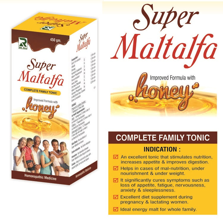 Dr Raj Super Maltalfa Complete Family Tonic with Honey