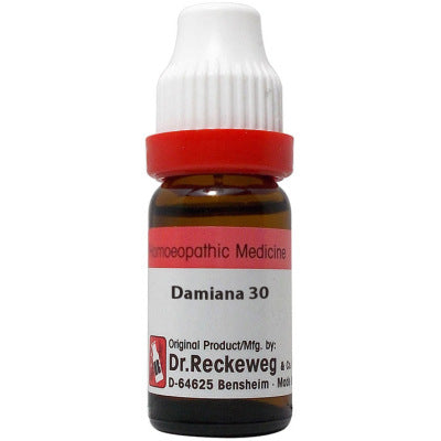 Dr Reckeweg Damiana Dilution 6C, 30C, 200C, 1M, 10M