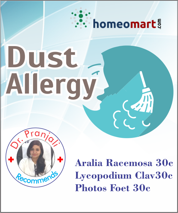 Homeopathy dust allergy remedy kit with Pothos Foetidus , Aralia racemosa