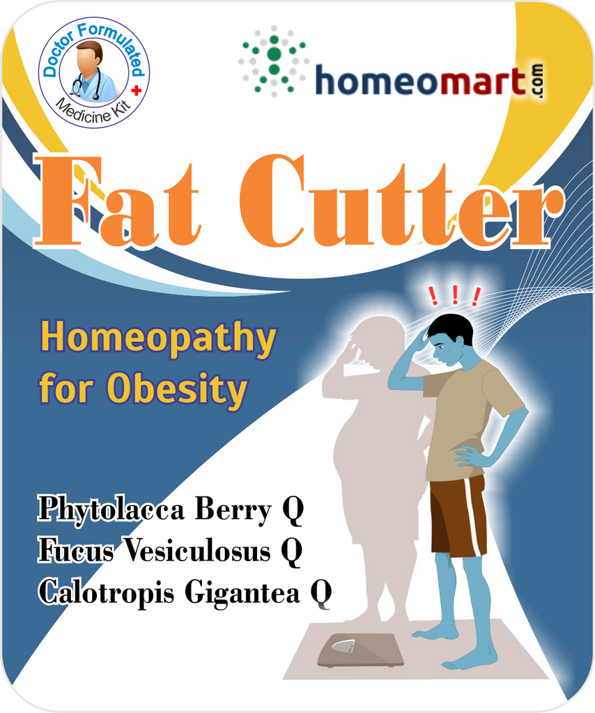 Fat Cutter for obesity, excess body fat with Phytolacca Berry, Fucus Vesic, Calotropis