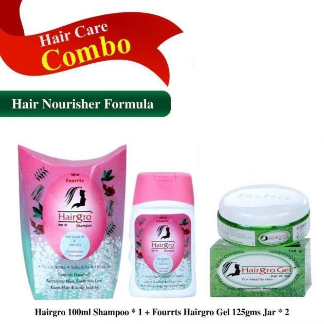 Hairgro Gel & Shampoo Combo (1 Shampoo 100ml, 2 Gel 125gms)